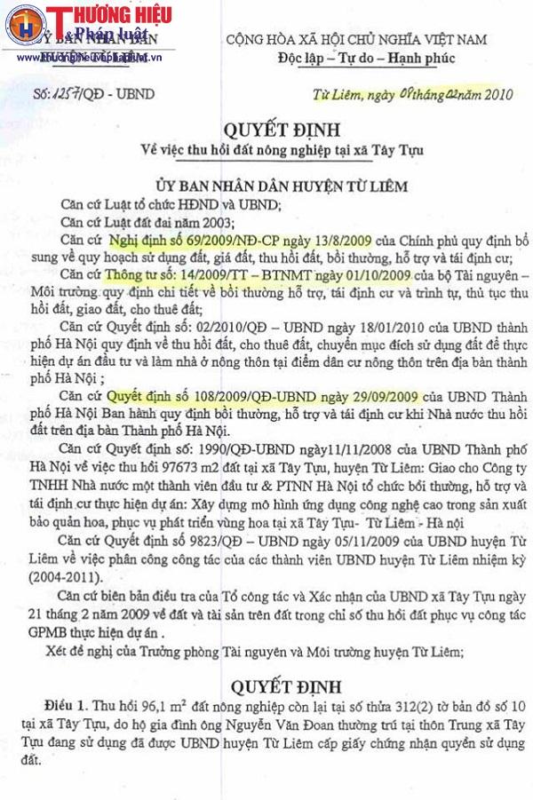 """Những sai phạm """"tày trời"""" của lãnh đạo huyện Từ Liêm trong Dự án hoa công nghệ cao Tây Tựu"""