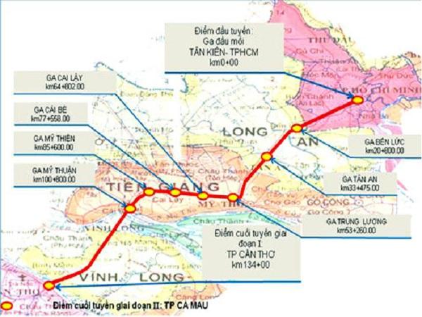 Khởi động tuyến đường sắt 3,6 tỷ USD nối TP HCM - Cần Thơ