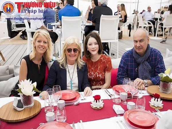 Lý Nhã Kỳ mở tiệc dành cho khách VIP tại bãi biển Majestic Cannes