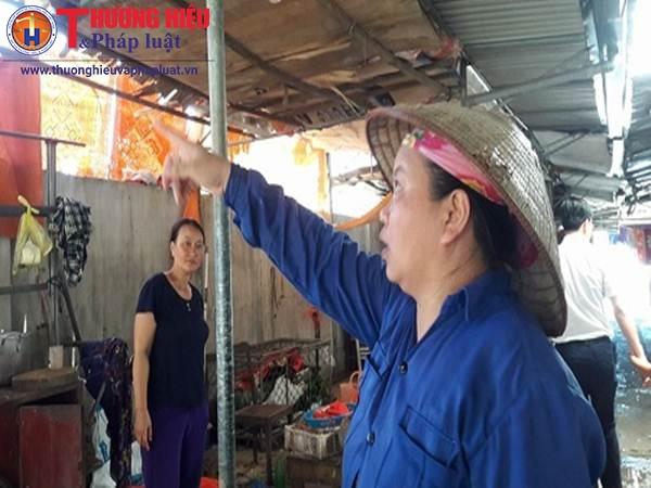 Nghệ An: Khối bê tông rơi xuống chợ, một phụ nữ bị thương
