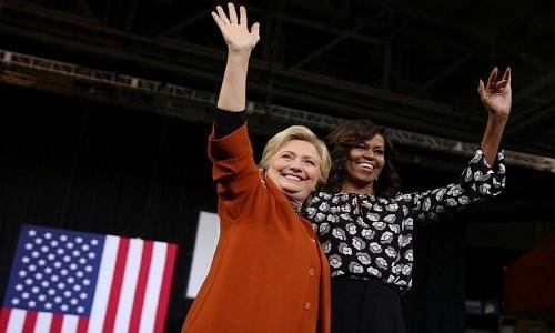 Bà Obama: Clinton là ứng viên tổng thống 'đỉnh' nhất trong lịch sử Mỹ