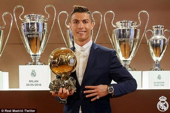 Cristiano Ronaldo đoạt Quả bóng vàng 2016: Kết quả đã được dự đoán trước