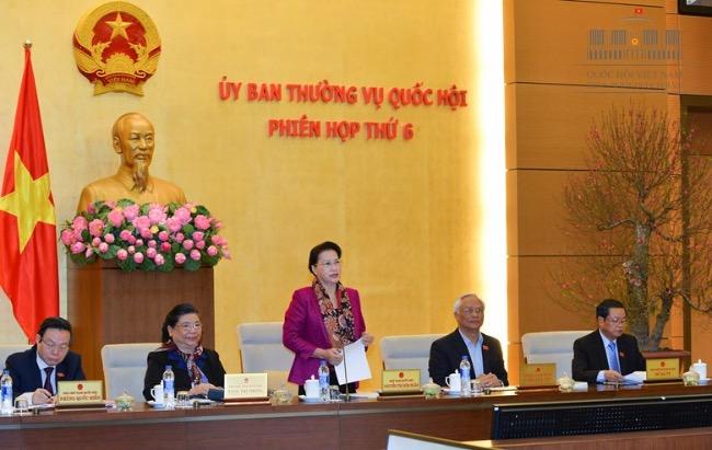 Khai mạc phiên họp thứ 6 của Ủy ban Thường vụ Quốc hội