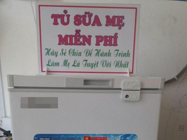 Ấm lòng tủ sữa mẹ ngọt ngào miễn phí ở TP. HCM