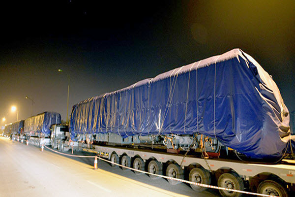 Lô tàu Cát Linh - Hà Đông đầu tiên vừa về đến Hà Nội