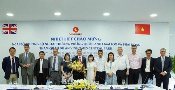 Anh chia sẻ tầm nhìn về chính sách thương mại với Việt Nam