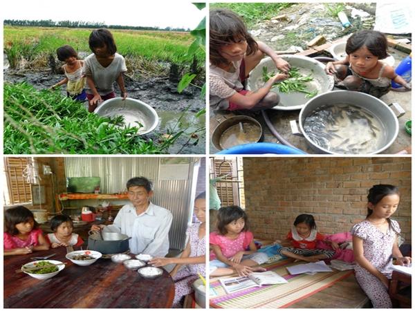 Đáng thương 3 chị em mồ côi ở Cần Thơ phải chạy ăn từng bữa