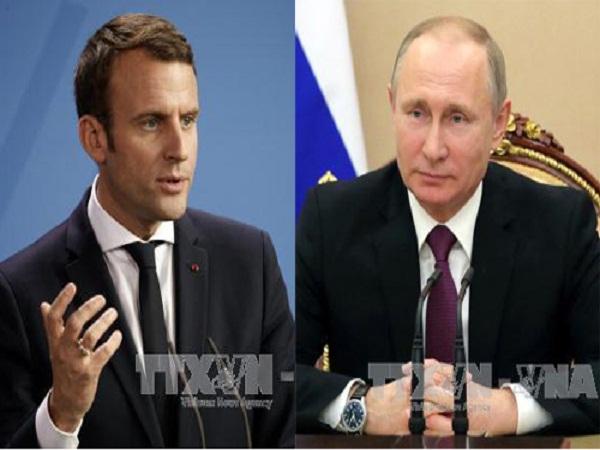 Tổng thống Nga Putin và tân Tổng thống Pháp Macron điện đàm nhằm thúc đẩy quan hệ song phương