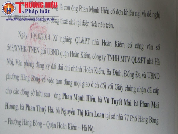 Q.Hoàn Kiếm, Hà Nội cấp sổ đỏ cho người đã chết (kỳ 4): Giấy chứng nhận đã cấp không còn giá trị giao dịch